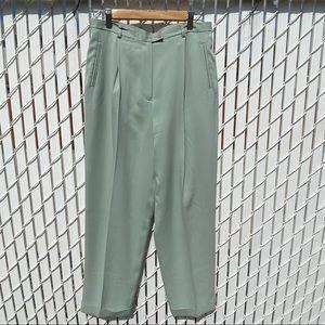 Ann Taylor Loft Pastel Green Silk Trouser Pants